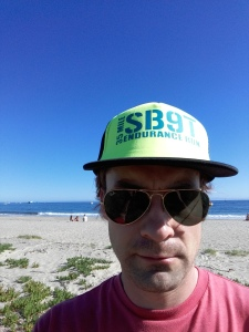 After checking in I took a stroll on the beach with my crisp new cap.